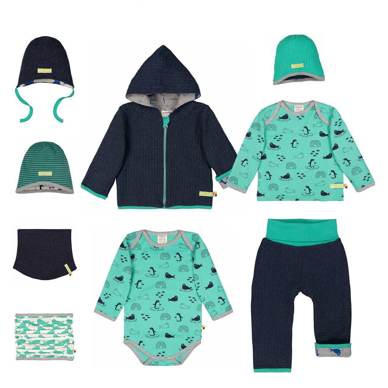 Téli Designer gyerekruha kollekció ötlet Kék-zöld